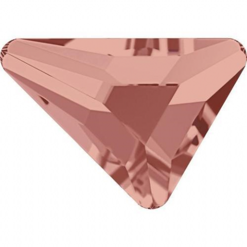 2739 Triangle Beta Crystals, Flatback, No-Hotfix, Blush Rose